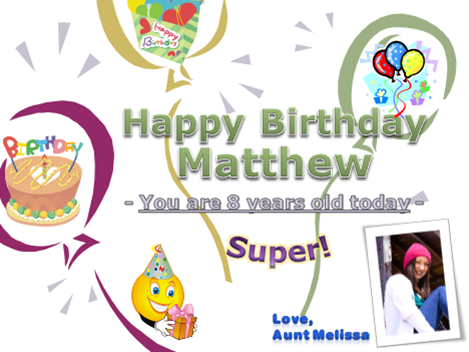 how to make a birthday card on microsoft word 2007