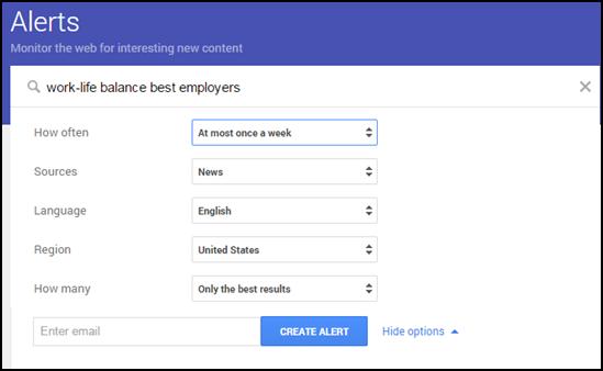 Work-Life Balance Google Alert