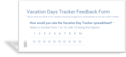 Open Vacation Day Tracker Feedback Form