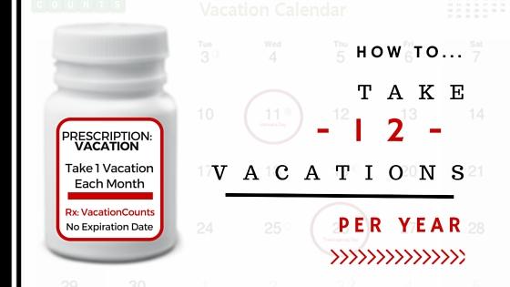 Vacation Prescription - Take 1 Per Month