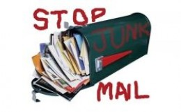 Stop Junk Mail - Overflowing Mailbox