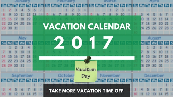 Usa Holiday Calendar Dates For 2017 Vacation Planning - Vacationcounts
