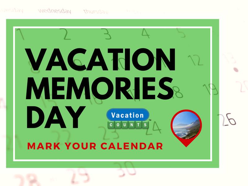 Vacation Memories Day Mark Calendar